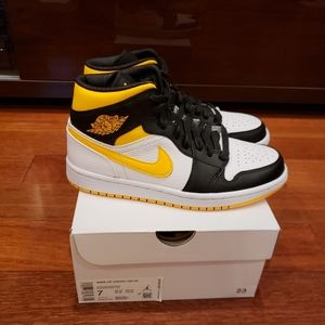 Jordan Shoes - New Nike Air Jordan 1 Mid Laser Orange Sneakers